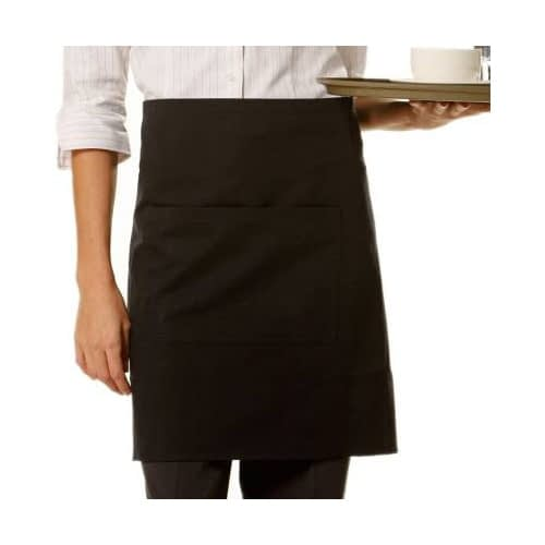 plain black waist apron