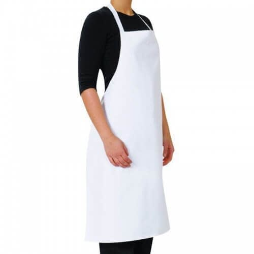 Plain cotton restaurant bib aprons with pockets wholesale suppliers in India