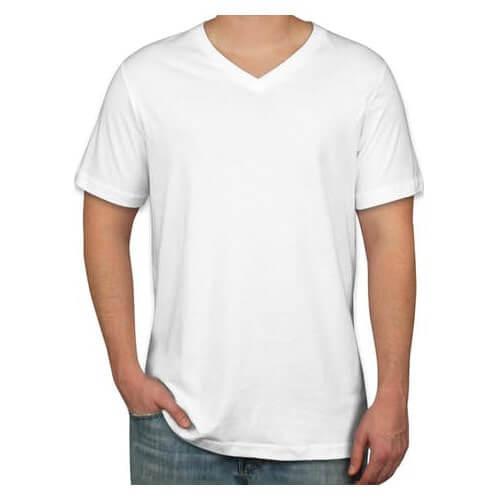 Cotton plain black & white men's, women's v neck t shirts wholesale suppliers