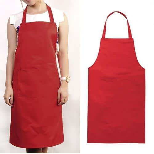 100% organic cotton black, white, red and yellow bib aprons wholesalemanufacturers